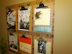 DIY: clipboards wall decor