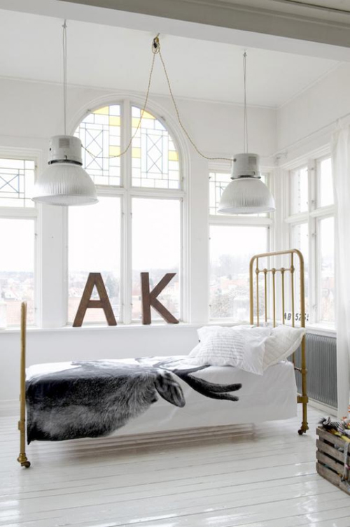 Minimalism industrial deco scandinavian design nordic Industrial scandinavian bedroom