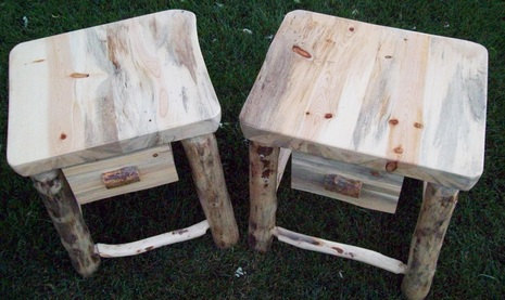 rustic night stands, etsy 290