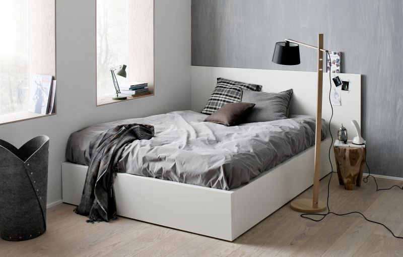 Scandinavian style bedroom deco trending for Bed styling ideas